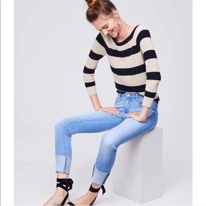 LOFT   NWT Modern Fresh Cut Cuffed Skinny Jeans